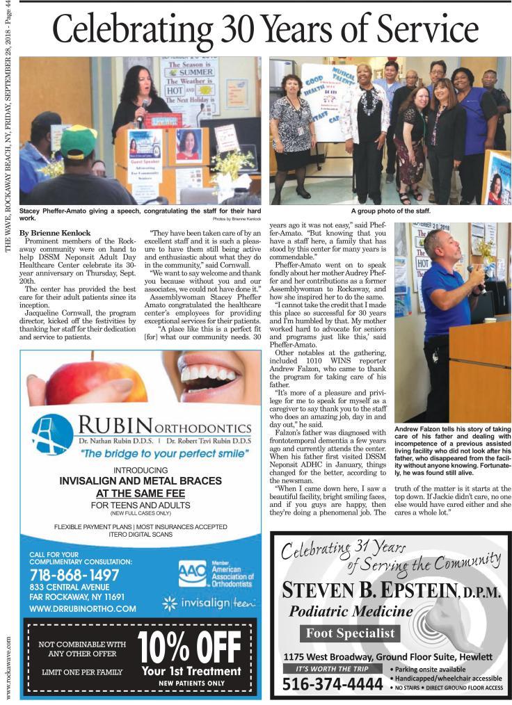 DSSM Neponsit Celebrates 30 Years of Service